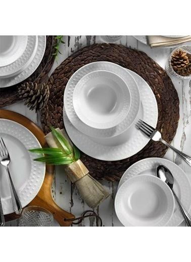 Kütahya Porselen İnci Yemek Takımı Seti 24 Prç. Renkli